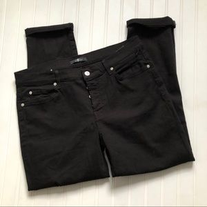 NWOT 7 for all Mankind black rolled ankle